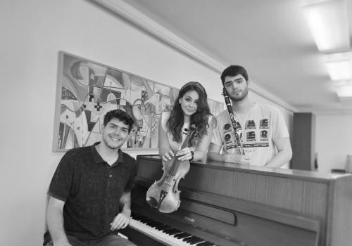 Trio clarinet, violina and piano